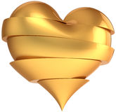 Broken golden heart. Broken heart total golden. Slices of glamour Love abstract. Valentines Day greeting card design element. This is a detailed render 3d (Hi Royalty Free Stock Photos