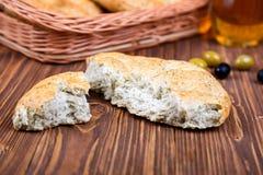 Broken grain tortilla. selective focus Stock Photography