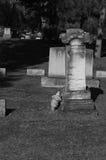 A broken grave marker Stock Photo