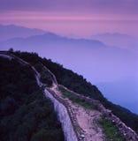 Broken Great Wall Sunset Stock Photos