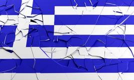 Broken Greek flag Royalty Free Stock Image
