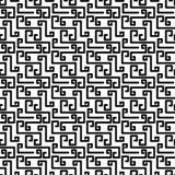 Broken Greek Key Texture Seamless Pattern Stock Photo