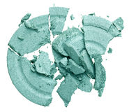 Broken green eye shadow Royalty Free Stock Image