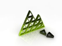 Broken green pyramid Stock Photo