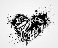 Broken grunge heart Stock Images