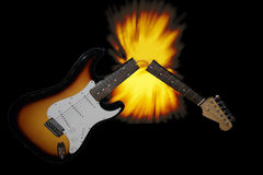 Broken Guitar Royalty Free Stock Photography