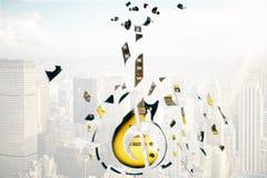 Broken guitar Stock Images