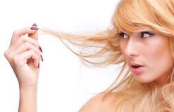 Broken hair Royalty Free Stock Image