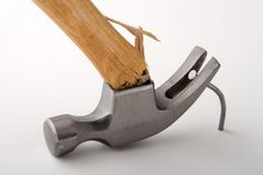 Broken hammer Royalty Free Stock Photography