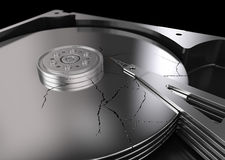 Broken Hard Disk Stock Image
