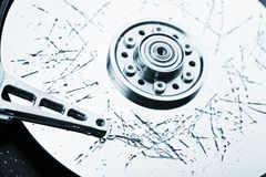Broken hdd data loss Stock Photos