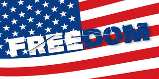 Broken header for independence day. Freedom. Broken header for independence day Royalty Free Stock Photography