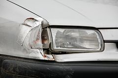 Broken headlight Stock Photo
