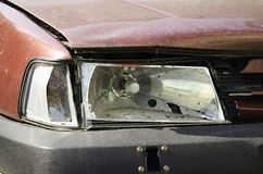 Broken headlight Royalty Free Stock Images