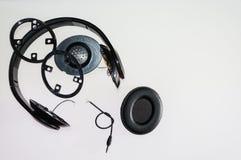 Broken headphone Stock Photography