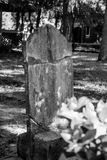 Broken Headstone Grave Cemetery Royalty Free Stock Images