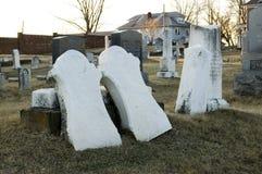Broken headstones Stock Image