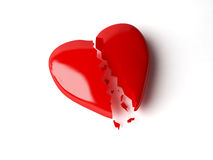 Broken heart. 3d broken heart isolated white Royalty Free Stock Images