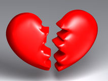 Broken heart Stock Photos