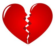 Broken Heart. Symbol of lovelorn Stock Image