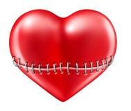 Broken heart. Heart red love symbol of valentine Isolated on white vector illustration