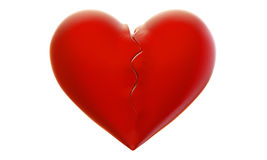 Broken Heart. Wounded heart or split into two parts Royalty Free Stock Photography