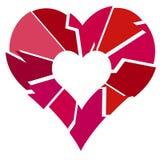 Broken Heart. An illustration of a Broken heart Royalty Free Stock Image