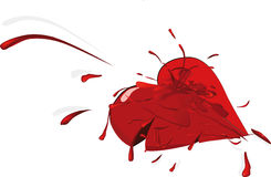 The broken heart Royalty Free Stock Images