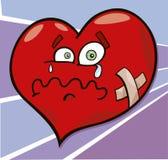 Broken heart. Cartoon illustration of broken heart Royalty Free Stock Photography