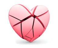 Broken heart. Concept of fall in love or opposite as depression, loss or medical heart attack Stock Photo