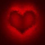 Broken heart red background. Shattered glass shape heart red background royalty free illustration