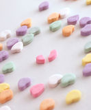 Broken Heart 2. Candy heart background Royalty Free Stock Photo