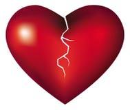 Broken heart. Cartoon illustration of a broken heart Royalty Free Stock Image