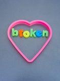 Broken heart. Stock Photography