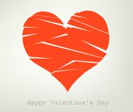 Broken heart. Valentine's day,  illustration Royalty Free Stock Photos