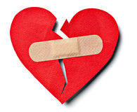 Broken heart royalty free stock photography