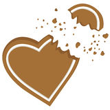 Broken heart vector Stock Images