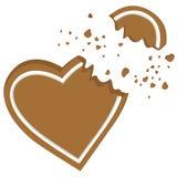 Broken heart vector royalty free illustration