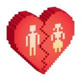 Broken heart 3d Stock Photo