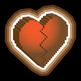 Broken heart 3d Royalty Free Stock Photography