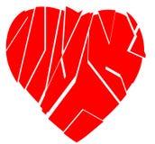 Broken heart. Illustration for a broken heart Royalty Free Stock Image