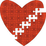 Broken Heart. Made from Puzzel Pieces, Illustration Royalty Free Stock Photography