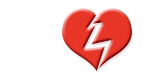 Broken heart. Digital clip art illustration of a broken red heart Royalty Free Illustration