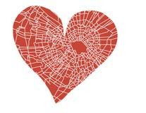Broken heart. Illustration of the broken heart Stock Image