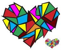 Broken heart abstract concept Stock Photo