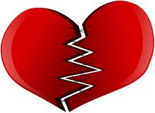Stylized Broken heart isolated Royalty Free Stock Image