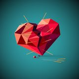 Broken heart with acupuncture needles Royalty Free Stock Images