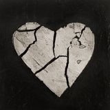 Broken heart artwork Royalty Free Stock Photography