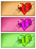 Broken heart background Royalty Free Stock Photography