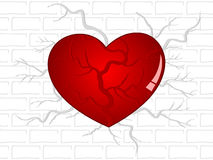 Broken heart background  for valentines day. Stock Photography